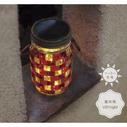 【人気のフェアリーライト】モザイクガラス LED ソーラー ガーデンライト