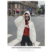 フード付きショットダウン★レディースジャンパー レディースジャケットダウンジャケット 韓国ファッション