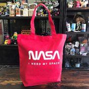 【予約販売】NASA公認トートバッグ・ロゴタイプ(ワーム)・レッド