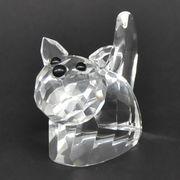 <AMANO>【ガラス製オブジェ】クリスタルガラス・キャット