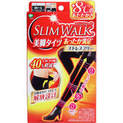 [3月26日まで特価]スリムウォーク 美脚タイツあったか満足ストレスフリー ブラック M-Lサイズ