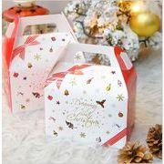白 クリスマス 手荷物 ギフトボックス キャンディ mery christmas  紙箱