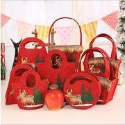 新品 アイデア クリスマスの雪 無紡布 キャンディのハンドバッグ  プレゼントの袋