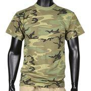 Rothco Tシャツ 半袖 ウッドランドカモ