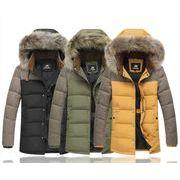 秋冬新作メンズダウンジャケット コート大きいサイズ トップス♪イエロー/ブラック/グリーン3色