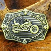アメリカ国旗バックル バイク アメリカン メタルバックル バイカー レザーベルト メンズ バックルのみ