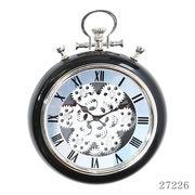 掛け時計 ギア Sサイズ Φ31cm ブラック
