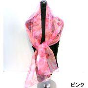 【超特激安商品】【スカーフ】ナイロングラッシャーアートフラワー柄ロングスカーフ