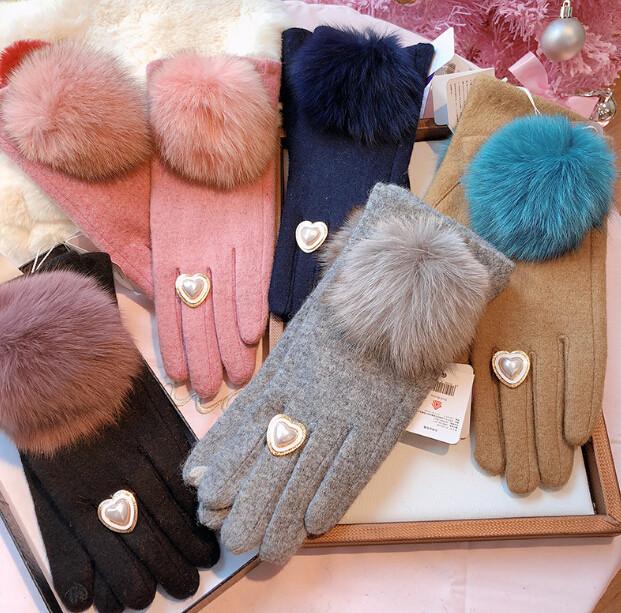 秋冬新品 レディースファッション 手袋 グローブ オシャレ カワイイ 防寒 ファー フワフワ