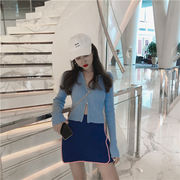 2018新柄追加  韓国ファッション  CHIC気質   ニットカーディガン