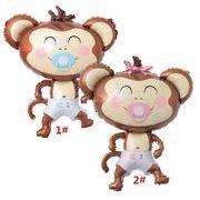 乳口サル風船 赤ちゃんの誕生日 アルミ膜風船 乳口 アニメ アルミ箔の風船