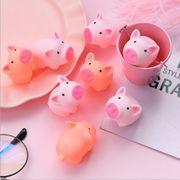 アニメ 柔らかい萌え かわいい ピンク 子豚 おもちゃ 発散する もじもじする減圧 おもちゃ
