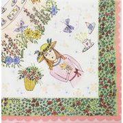 【激安】ペーパーナプキン お花と女の子のイラスト 20枚単位販売 手芸(D493-2)