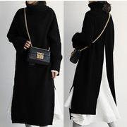 【秋冬新作】ファッションワンピース♪ブラック/グレー/ベージュ3色展開◆