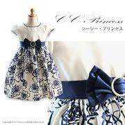 バラ柄ドレス、女の子、 キッズ、 ワンピース、 フォーマルドレス、 発表会、 結婚式、100cm-150cm