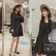 秋冬新商品730316 大きいサイズ 韓国 レディース ファッション ワンピース パーカー3L 4L 5L 6L