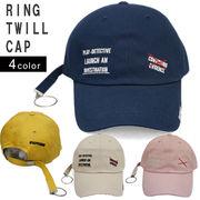帽子 キャップ レディース メンズ ベースボールキャップ リング ロングベルト 春 夏 秋 冬 キーズ Keys