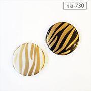 コイン型 ラウンド ゼブラ【riki-730】rikiビーズ  モダンビーズ デザイン アクリル ハンドメイド