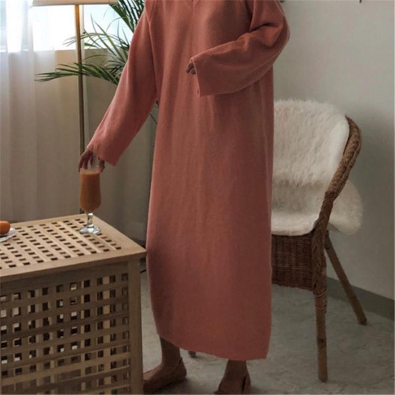 韓国 スタイル ファッション レディース ルーズ ゆったり ワンピース