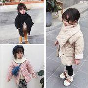 子供冬コート 厚手 女の子 キッズ 中綿コート 防寒 長袖 3色