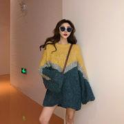秋冬新商品730382 大きいサイズ 韓国 レディース ファッション  セーター パーカー  3L 4L 5L
