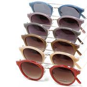 【2018SS新作】 カラーフレーム ボストン サングラス / 丸 メガネ めがね 眼鏡 伊達 メンズ レディース