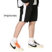 【improves】ショーパンツ ラインパンツ ハーフパンツ 短パン シャカシャカパンツ