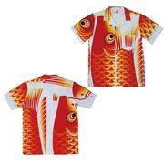 日本製 made in japanアロハシャツ 赤 M 箔無 178241