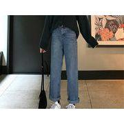 韓国風 ファッション 【秋冬新作】 激安 ゆったり カジュアル デニム パンツ ジーンズ