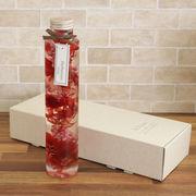 ハーバリウム丸瓶(円柱)レッド 化粧箱付き