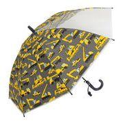 子どもが喜ぶキッズビニール傘 【重機】 子ども傘 50cm