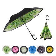 [60cm]逆さ傘 長傘 手開き式 晴雨兼用 男女兼用 ユニセックス