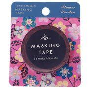 【マスキングテープ】マスキングテープ Tomoko Hayashi 15mm マステ/フラワーガーデン ピンク