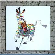 絵画【 動物画 】壁飾り 油絵 木枠あり 60cm x 60cm 100% 手描き アート 工場があり、受注生産できます