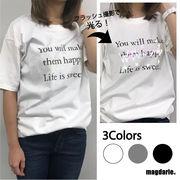 オーロラ反射 レタリングTシャツ