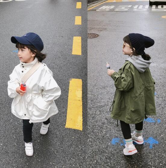 キッズジャケット 2タイプ ロング丈 普段着 長袖 子供コート 日常用 男の子 女の子