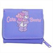 【財布:レディース】ケアベア 3つ折り財布/バイオレット