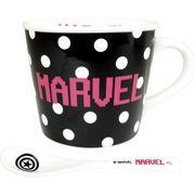 【HS】【在庫限り】【マグカップ】マーベル スプーン付き マグ ドット
