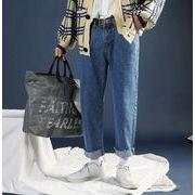 新作メンズジーンズ パンツ ゆったり おしゃれ◆ブルー/ブラック2色
