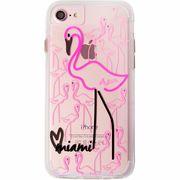 iPhone8/7/6s/6  Hybrid Naked Tough City Print Miami Flamingo  CM035284