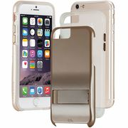iPhone6s/6  Hybrid Tough Stand Case Gold/Clear  CM033614