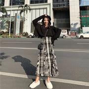 韓国ファッション  2019新品  大人気  ニット スカートセット セットアップ チュニック 新作