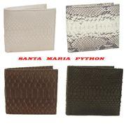 Santa Maria サンタマリア製パイソン 両面 蛇革 財布/ 二つ折り財布 艶消し