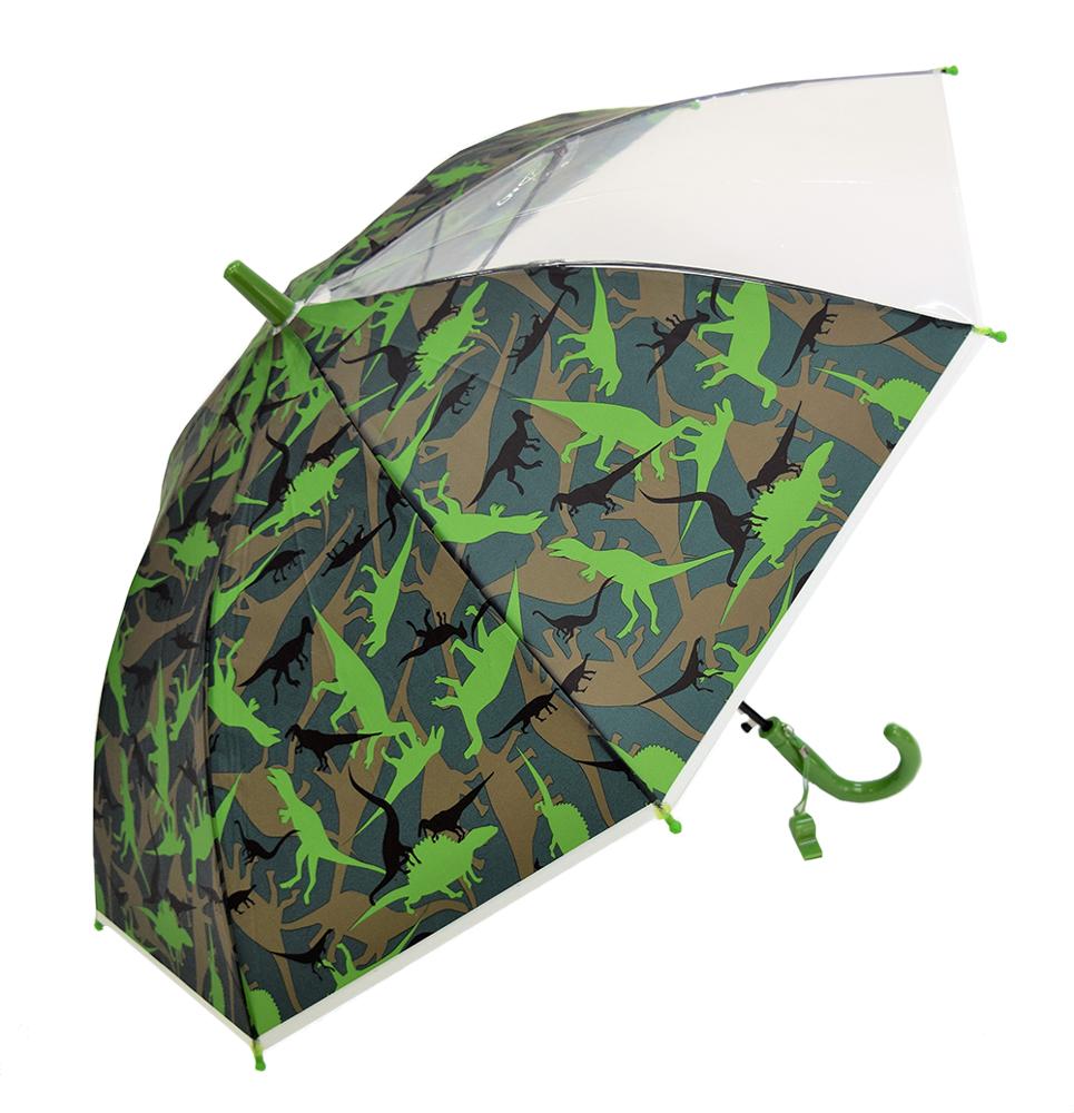 子どもが喜ぶキッズビニール傘 【恐竜】 子ども傘 50cm