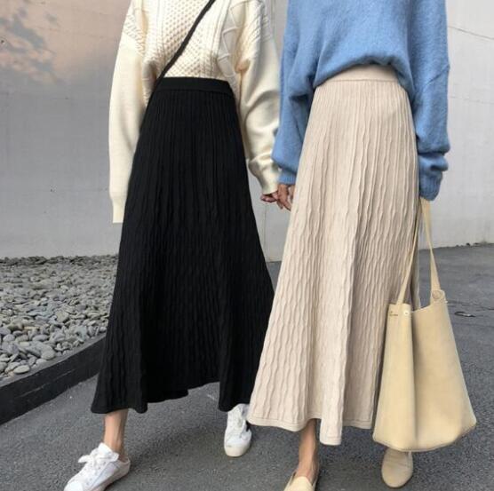 新しいデザイン ハイウエスト★新品★レディース★カジュアル★ レギンス★ロングスカート