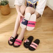 サンダル スリッパ 無地 シューズ ルームシューズ レディース 靴 シンプル 配色 非対称 韓国
