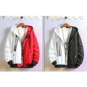 初春新作メンズコート ジャケット トップス大きいサイズ♪ブラック/レッド2色