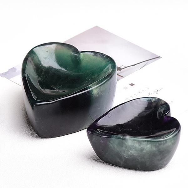 【即納】天然石 パワーストーン フローライト 置物 風水物 彫り 星碗