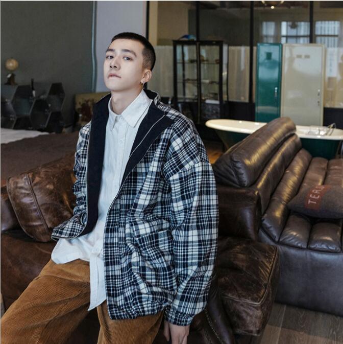 ファッション ジャケット コート メンズ  タートルネック 新作 リバーシブル ジャンパー