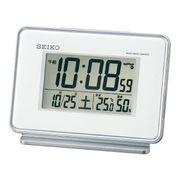 (クロック/ウォッチ)(目覚まし時計)セイコー 電波デジタル目覚まし(白) SQ767W